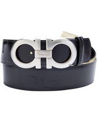 Ferragamo Black Leather Belt