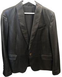 Brunello Cucinelli Leather Vest - Black