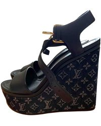 Louis Vuitton Leder Sandalen - Mehrfarbig