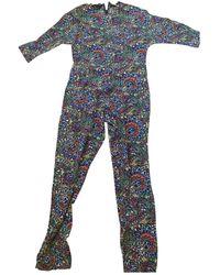 Vanessa Seward Multicolor Silk Jumpsuits