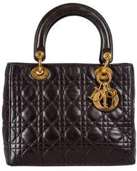 Dior Lady Leder Handtaschen - Schwarz