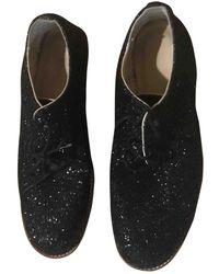 Junya Watanabe Glitter Lace Ups - Black