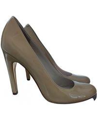 Michael Kors Patent Leather Heels - Natural