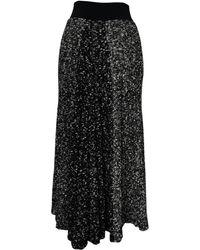 Céline \n Black Wool Skirt