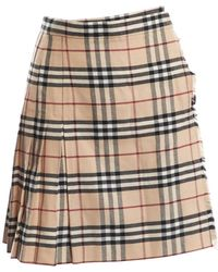 Burberry \n Beige Wool Skirt - Natural