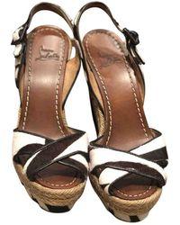 Christian Louboutin Cataclou White Pony-style Calfskin Sandals