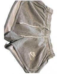 Nike Grey Cotton - Elasthane Shorts