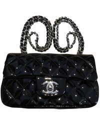 Chanel Timeless/classique Patent Leather Crossbody Bag - Black