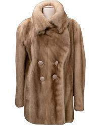 Dior Cappotto in Visone - Marrone