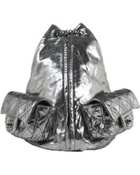 30f861118a37 Chanel - Metallic Leather Backpacks - Lyst