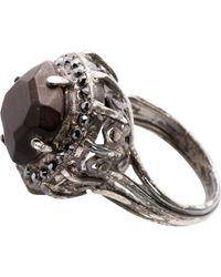 Lanvin Black Metal Ring