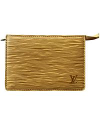 Louis Vuitton Yellow Leather Purses Wallets & Cases