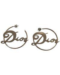 Dior Pendientes en metal plateado - Multicolor