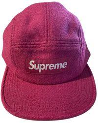 Supreme Chapeaux & Bonnets en Laine Rose