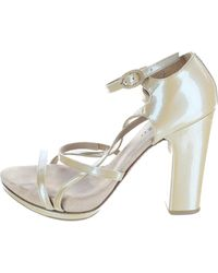 Repetto - Gold Patent Leather Heels - Lyst
