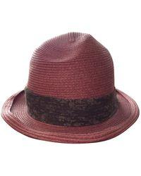 Marc Jacobs Pink Wicker Hat