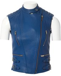 Céline \n Blue Leather Jacket