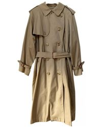 Burberry Wool Trench Coat - Natural