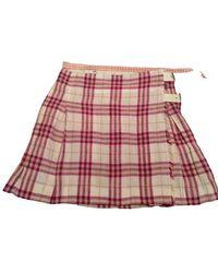 Burberry Linen Mini Skirt - Multicolor