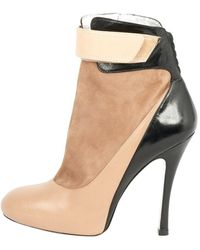 Barbara Bui Beige Leather Ankle Boots - Natural