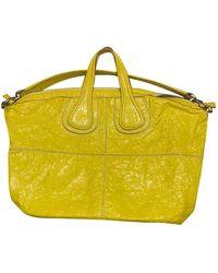 Givenchy Bolsa de mano en cuero amarillo Nightingale