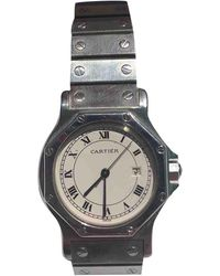 Cartier Santos Ronde Uhren - Grau