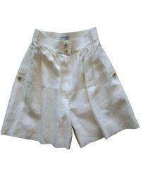 Chanel Beige Silk Shorts - Natural