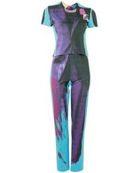 Jean Paul Gaultier - Pre-owned Vintage Turquoise Viscose Jumpsuits - Lyst
