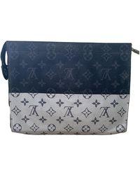 Louis Vuitton Pochette Apollo Monogram Vivienne Eclipse Leinen Taschen - Mehrfarbig
