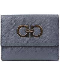 Ferragamo Gray Leather Wallet