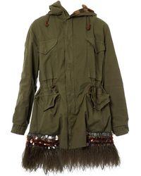 Mr & Mrs Italy - Khaki Cotton Coat - Lyst