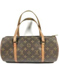 Louis Vuitton - Vintage Papillon Brown Cloth Handbag - Lyst