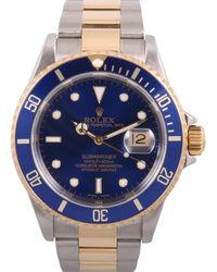 Rolex Montres Submariner en Or et acier Bleu