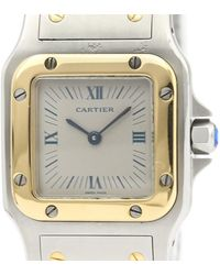 Cartier Santos Galbée Grey Gold And Steel Watch - Gray