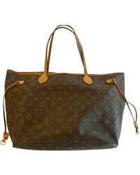 Louis Vuitton Tote bag Neverfull in Tela - Marrone
