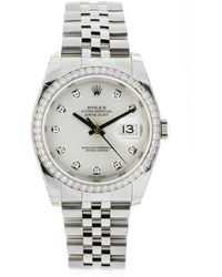 Rolex - Oyster Perpetual 36mm Silver Steel Watches - Lyst
