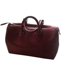 Louis Vuitton Borsa a mano in pelle rosso Speedy
