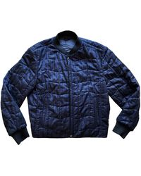 Ferragamo Navy Cotton Jacket - Blue