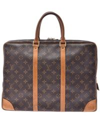 Brown Cloth Handbag