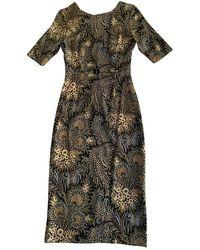 SUNO Multicolor Silk Dress