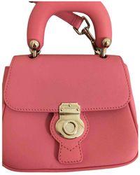 Burberry Dk 88 Leather Satchel - Pink