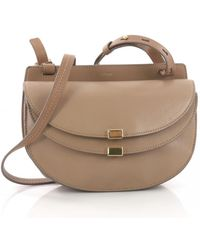 Chloé - Pre-owned Georgia Beige Leather Handbags - Lyst
