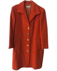 Dior Vintage Orange Wool Coats