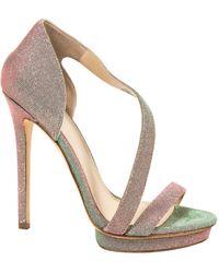 B Brian Atwood Green Cloth Heels