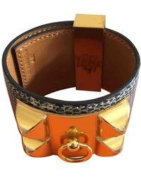 Hermès Collier De Chien Lizard Bracelet - Multicolour