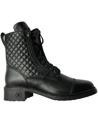 Chanel Boots en Cuir Noir