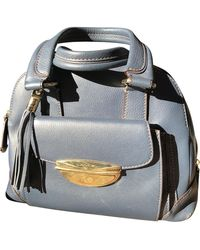 Lancel Adjani Leather Handbag - Blue