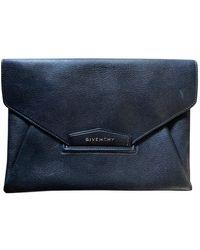 Givenchy Antigona Leder Clutches - Blau