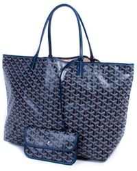 Goyard Saint-louis Navy Cloth Handbag - Blue