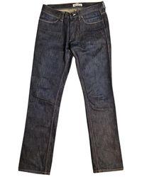 Acne Studios Jeans in cotone blu Row